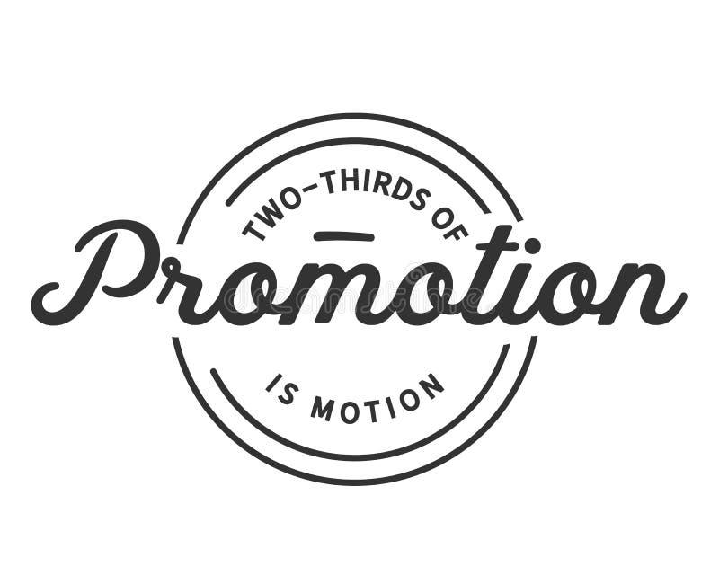 Dois terços da promoção são movimento ilustração stock