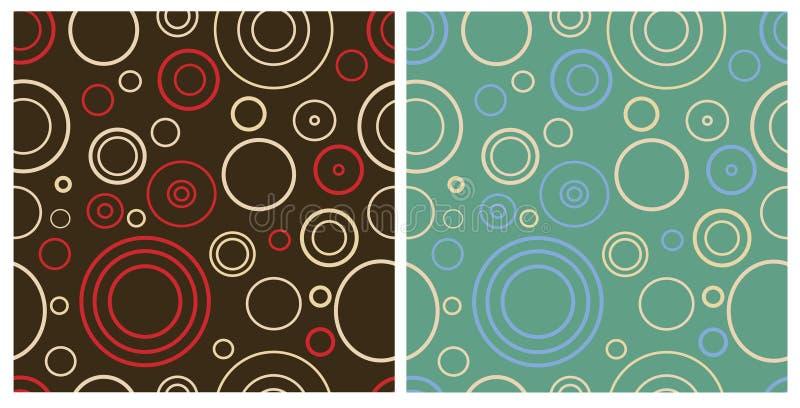 Dois testes padrões retros sem emenda ilustração royalty free