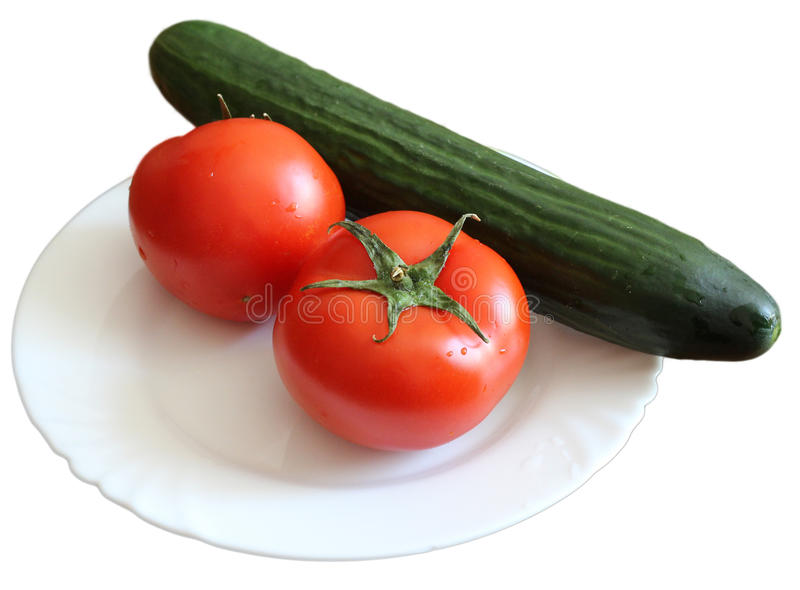 Dois tomates vermelhos com água foto de stock royalty free