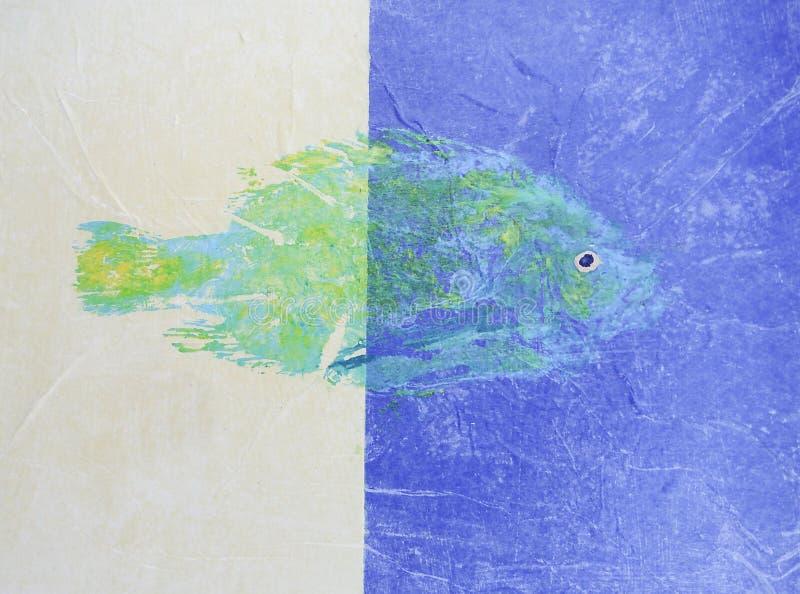 Dois Tone Green Fish fotos de stock royalty free