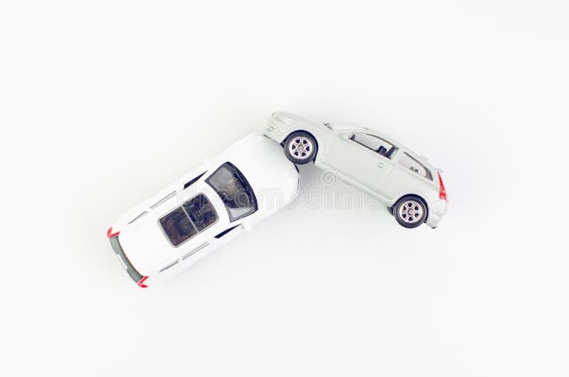 Dois Toy Cars Crashed imagem de stock royalty free