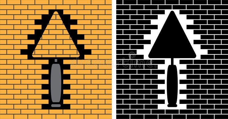 Dois trowels. estêncil ilustração do vetor