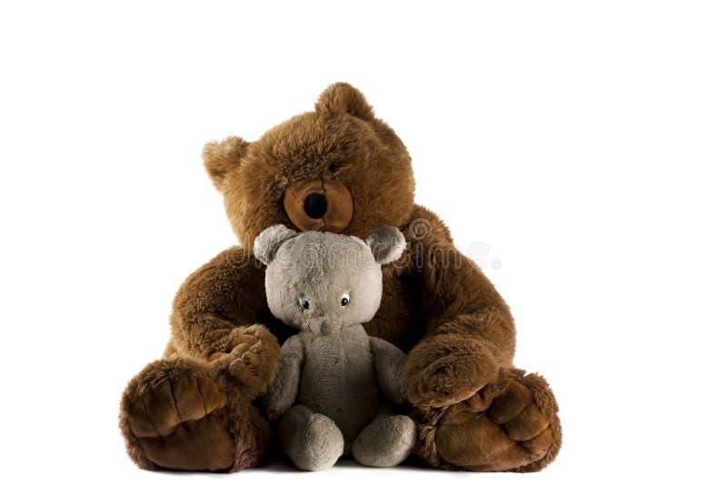 Dois ursos da peluche imagens de stock royalty free