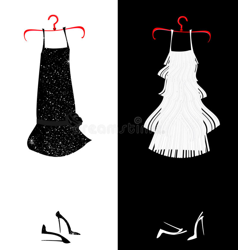 Dois vestidos ilustração do vetor