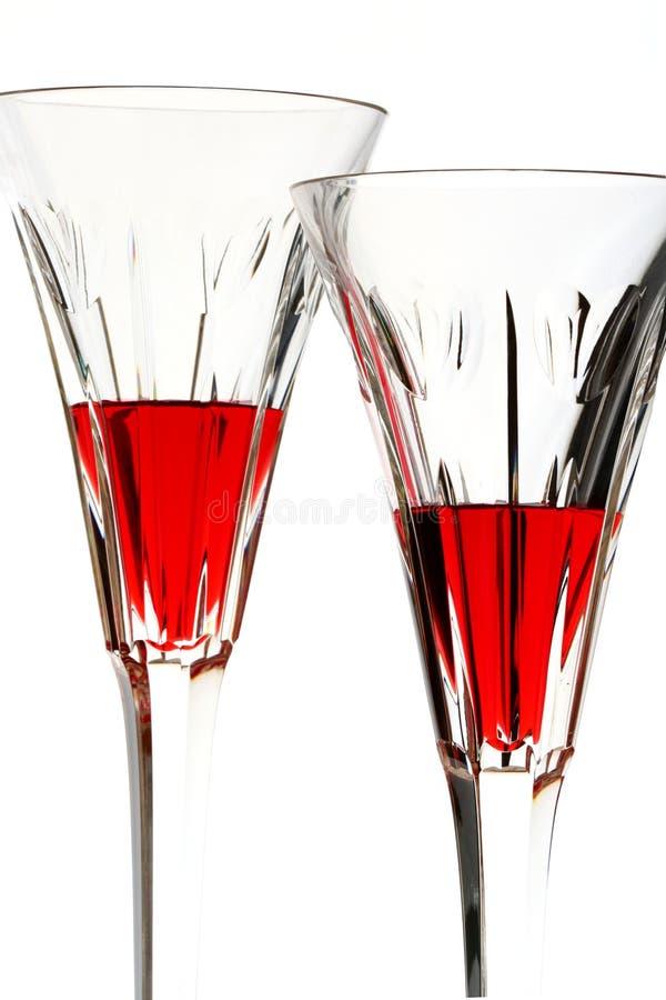 Dois vidros com líquido vermelho foto de stock royalty free