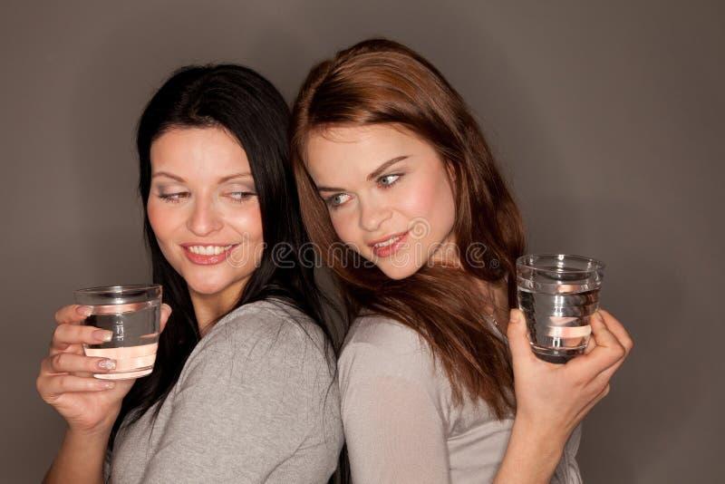 Dois vidros da água fotografia de stock