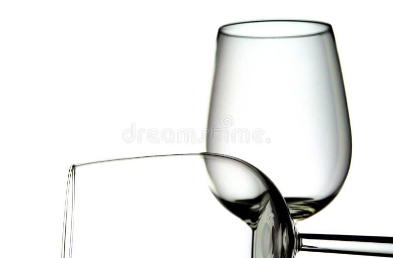 Dois vidros de vinho fotos de stock royalty free