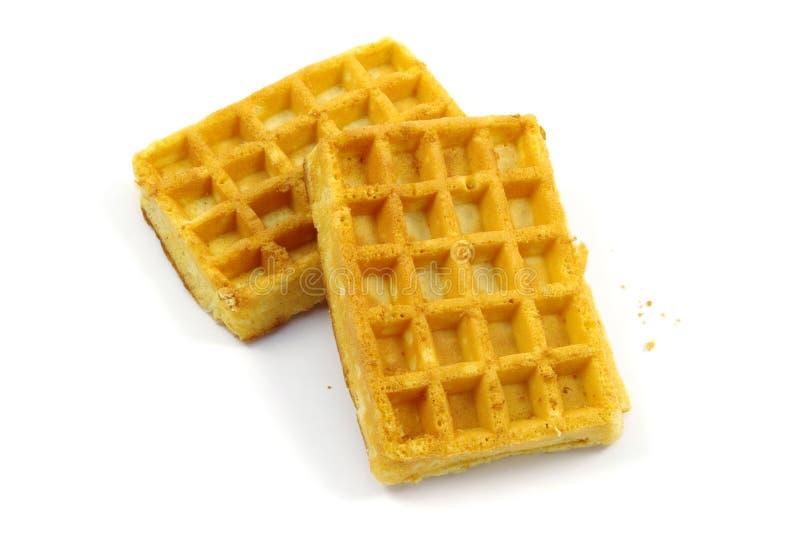 Dois waffles imagem de stock royalty free