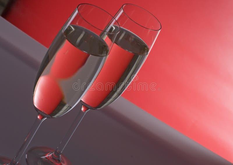 Dois wineglasses do champanhe imagens de stock royalty free