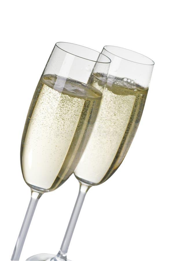 Dois wineglasses do champanhe fotografia de stock royalty free