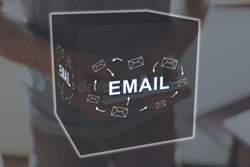 dojazdowy guzika pojęcia email szybki obrazy stock