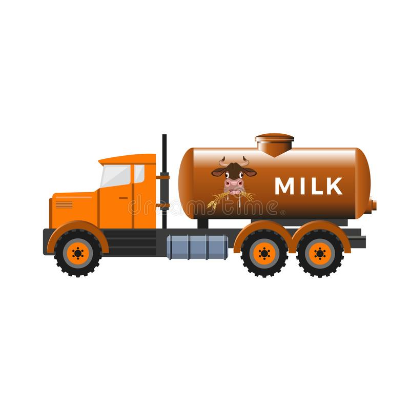 Dojna cysternowa ciężarówka royalty ilustracja