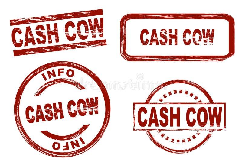 Dojna krowa atramentu znaczka set ilustracji