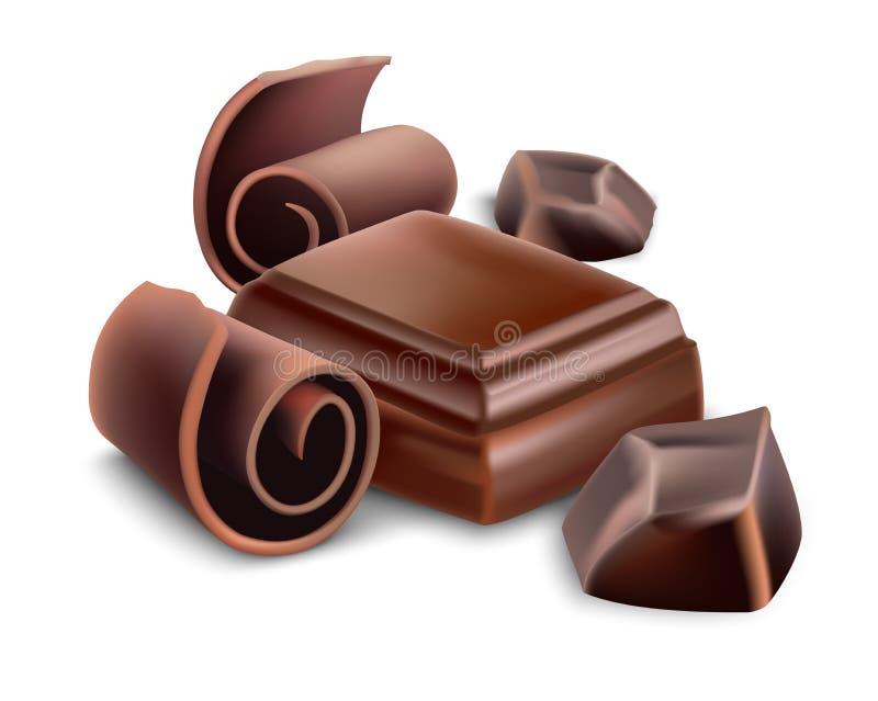 Dojny czekoladowy bar ilustracja wektor