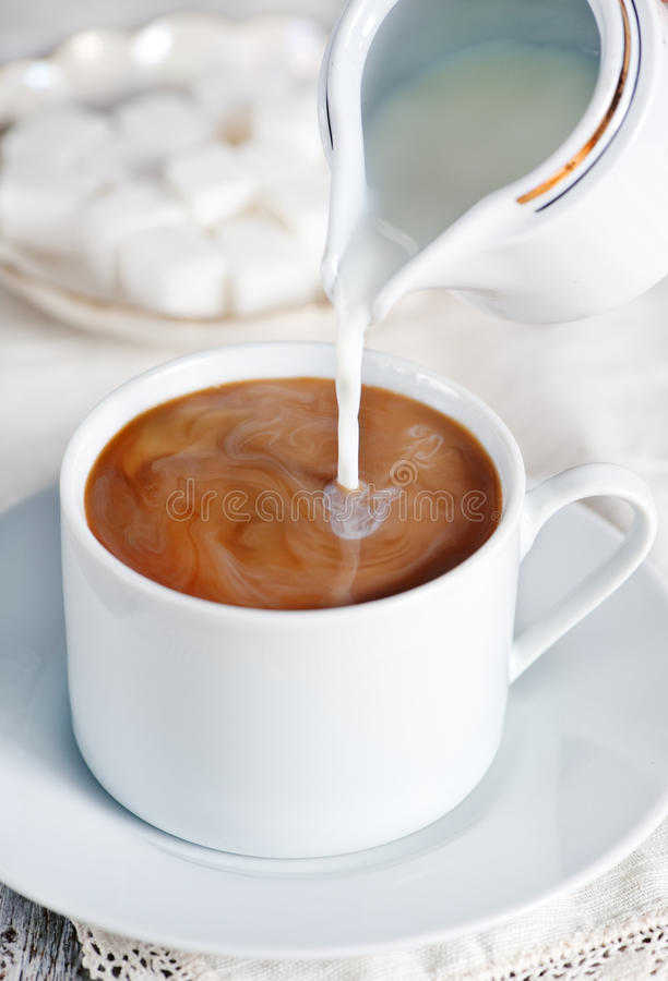 Kawa z mlekiem fotografia royalty free