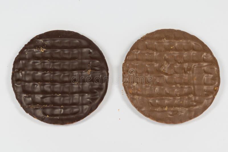 Dojny i prosty Czekoladowy Digestives zdjęcia royalty free