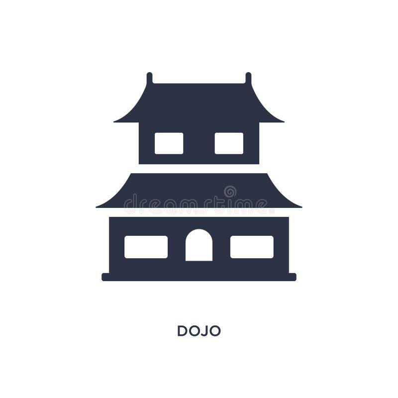 dojopictogram op witte achtergrond Eenvoudige elementenillustratie van Aziatisch concept vector illustratie