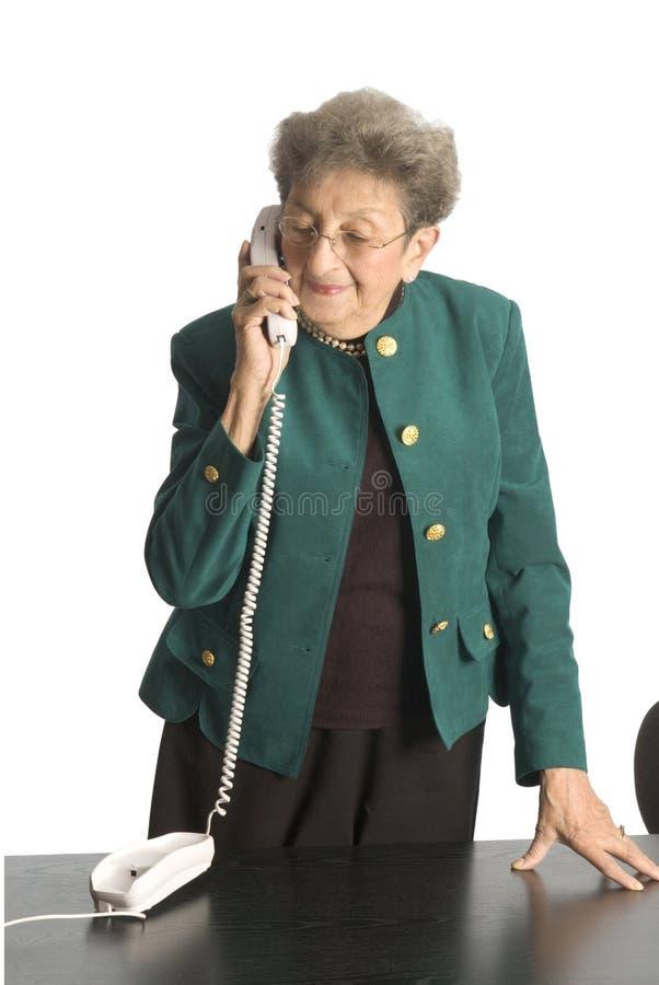 dojrzała kobieta interesu telefonu obraz stock