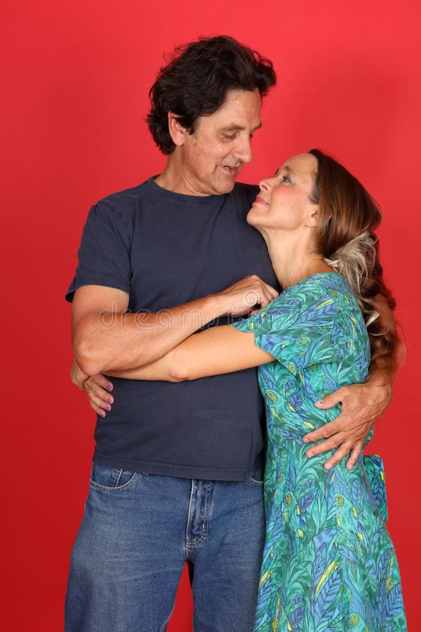 Dojrzała para małżeńska w miłości zdjęcie stock