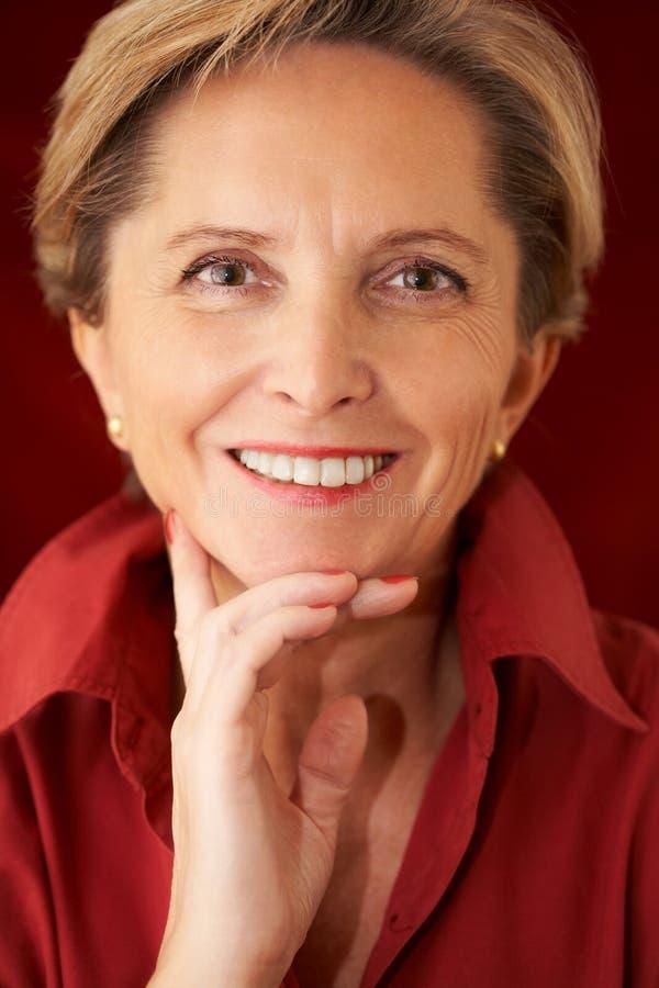 dojrzała portret kobiety fotografia royalty free