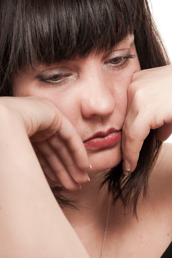 dojrzała smutna kobieta zdjęcie royalty free