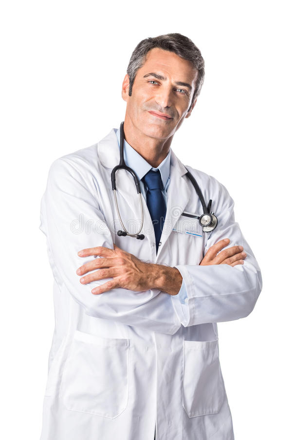 dojrzała ufna lekarka fotografia stock