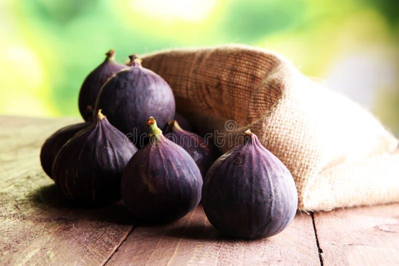 Dojrzałe słodkie figi Zdrowa śródziemnomorska figi owoc obrazy stock
