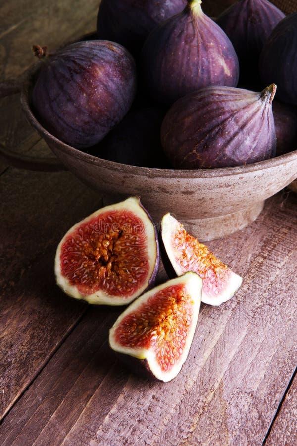 Dojrzałe słodkie figi Zdrowa śródziemnomorska figi owoc fotografia royalty free