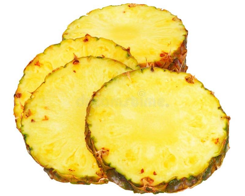 Dojrzały ananasa cięcie fotografia stock