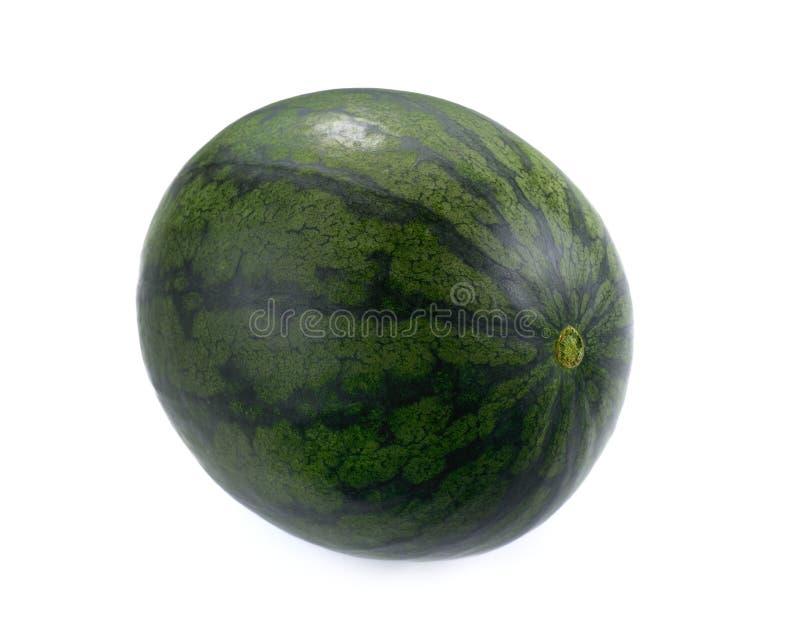 Dojrzały i soczysty wodny melon odizolowywający na białym tle obraz royalty free