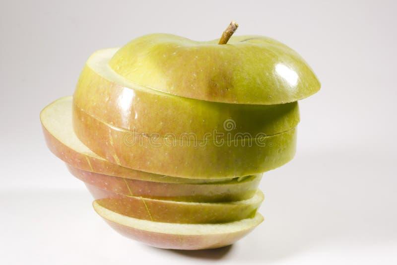 Dojrzały jabłko pokrajać warstwy obrazy royalty free