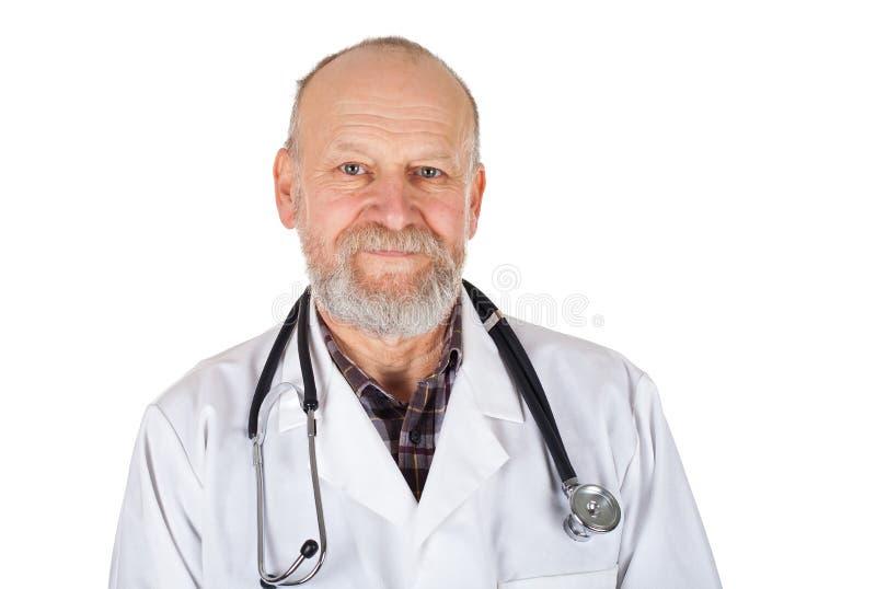 Dojrzały lekarz medycyny obraz royalty free