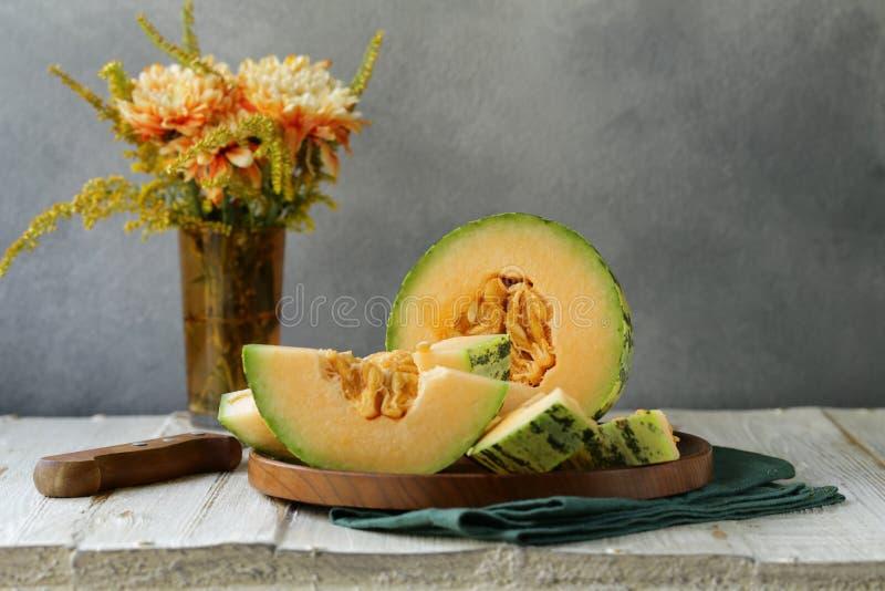 Dojrzały pomarańczowy melon obraz royalty free