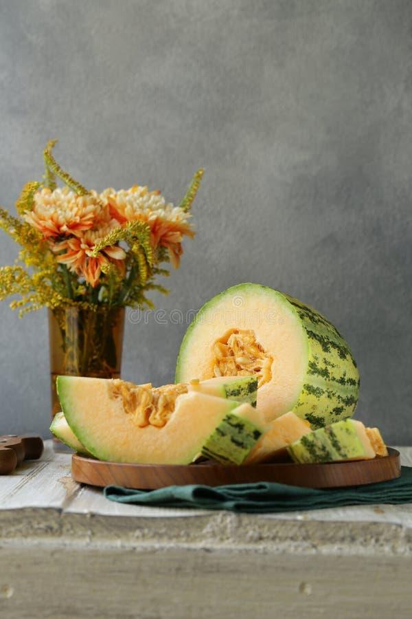 Dojrzały pomarańczowy melon zdjęcie stock