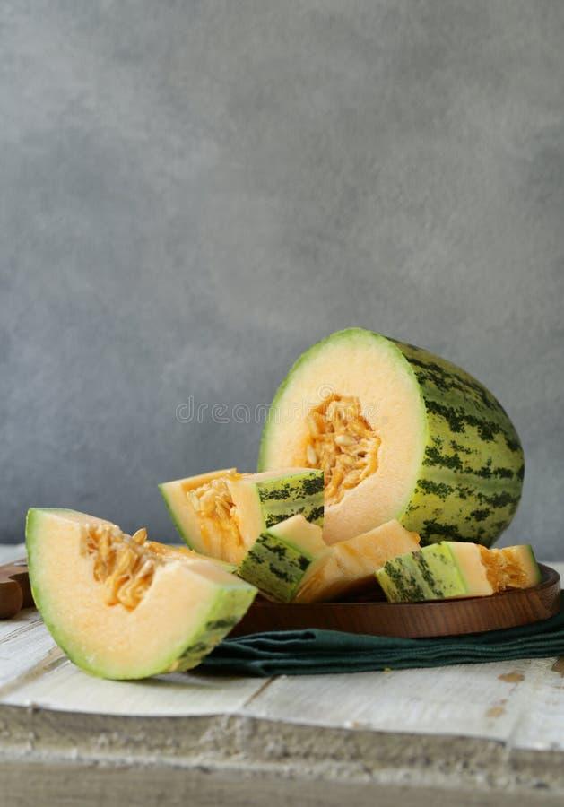 Dojrzały pomarańczowy melon obrazy stock