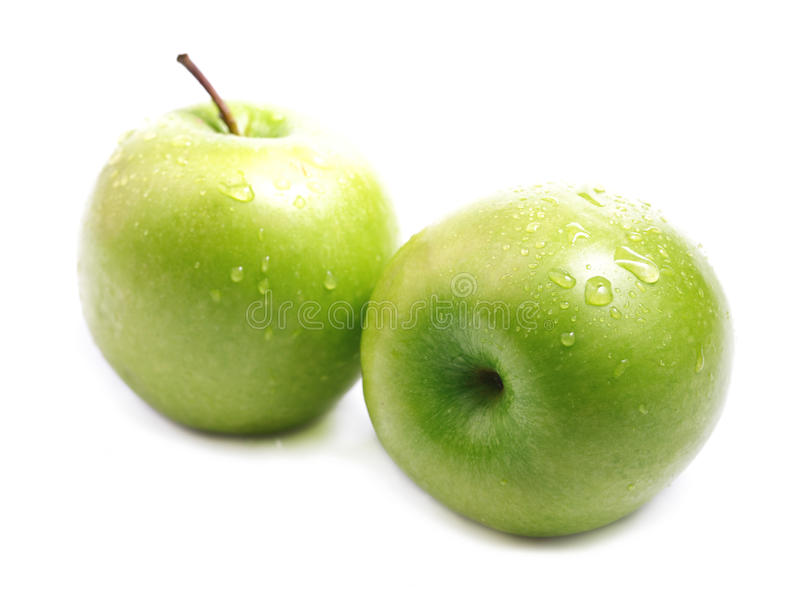 Dojrzały soczysty zielony jabłko. obraz stock