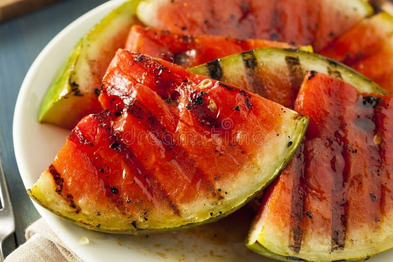 Dojrzały Zdrowy Organicznie Piec na grillu arbuz zdjęcie royalty free