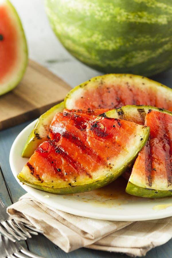 Dojrzały Zdrowy Organicznie Piec na grillu arbuz obrazy stock