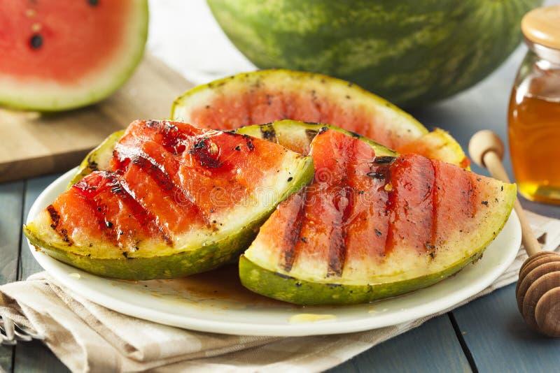 Dojrzały Zdrowy Organicznie Piec na grillu arbuz fotografia royalty free