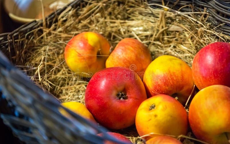 Dojrzali soczyści jabłka fotografia stock