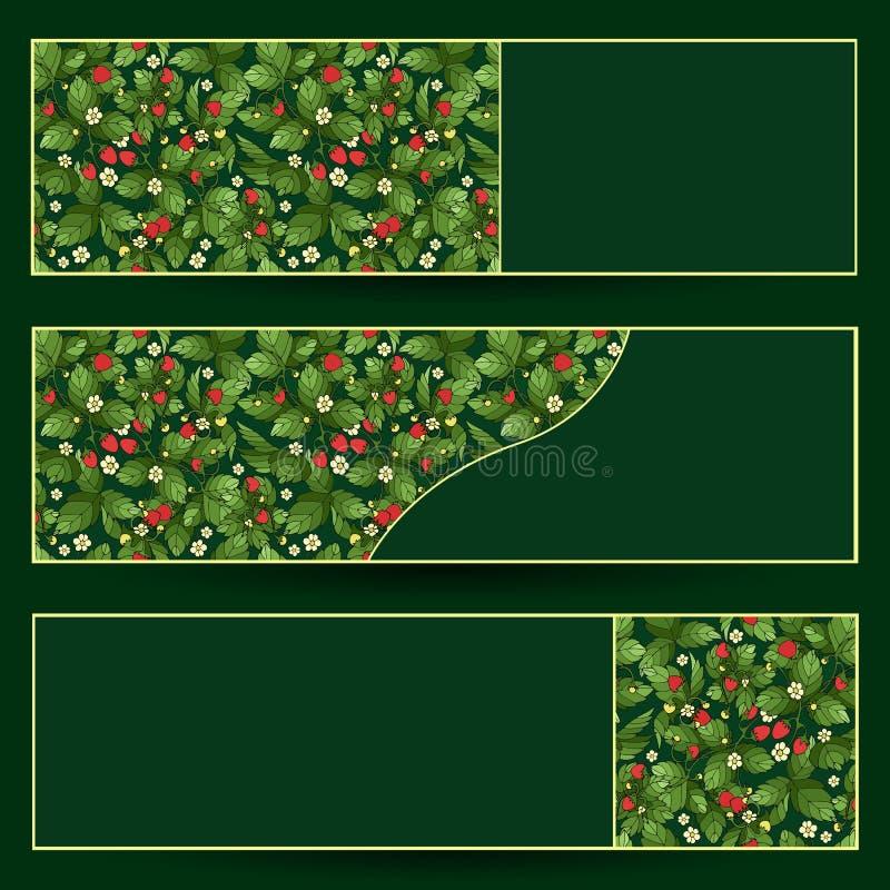 Download Dojrzali Truskawkowi Sztandary Ustawiający Ilustracja Wektor - Ilustracja złożonej z dojrzały, beż: 57669057