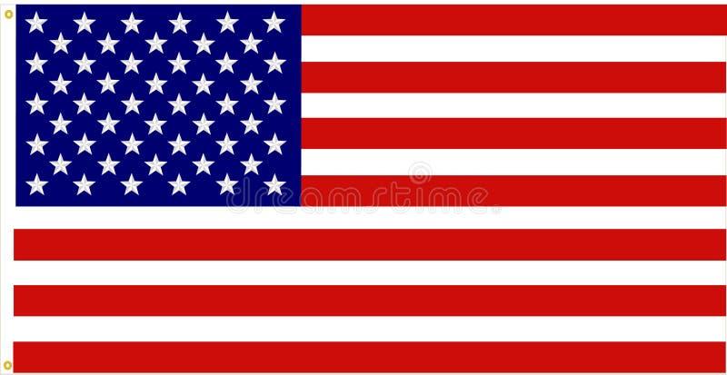 dokładna amerykańska flaga ilustracji