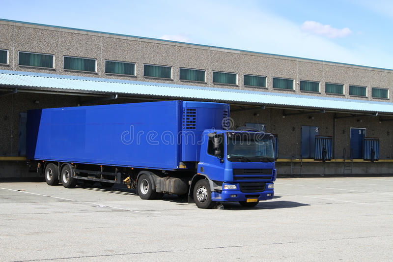 dok błękitny ciężarówka zdjęcia royalty free