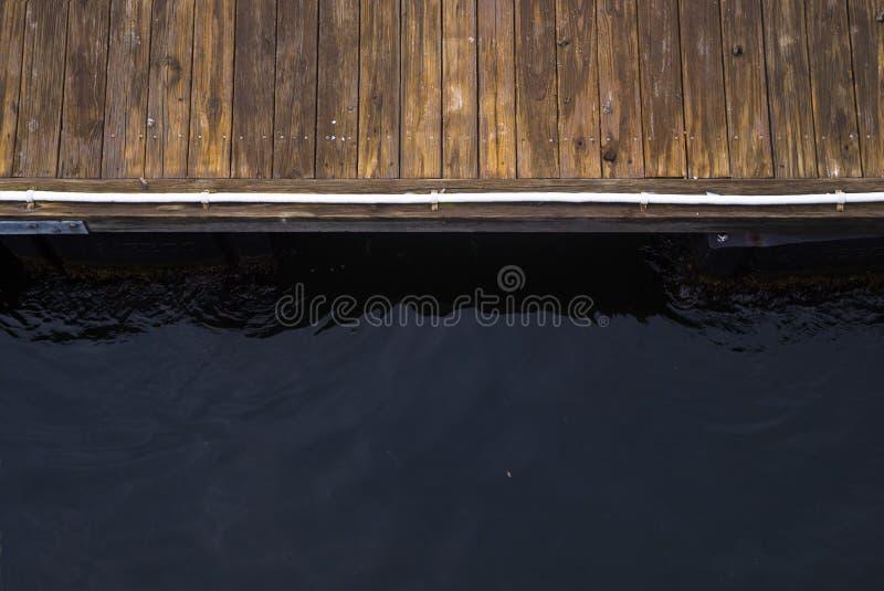 Dok en Water royalty-vrije stock afbeelding