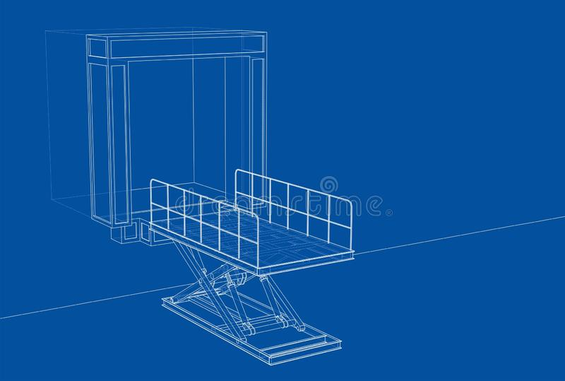 Dok leveler concept vector illustratie