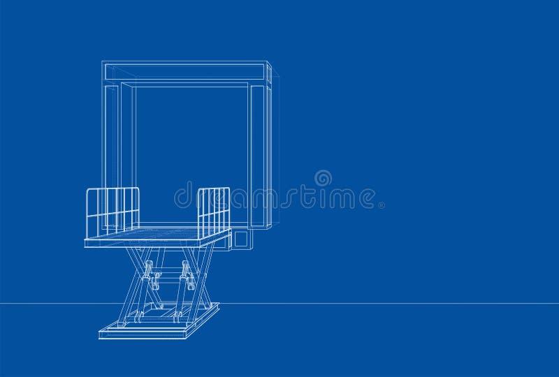 Dok leveler concept stock illustratie