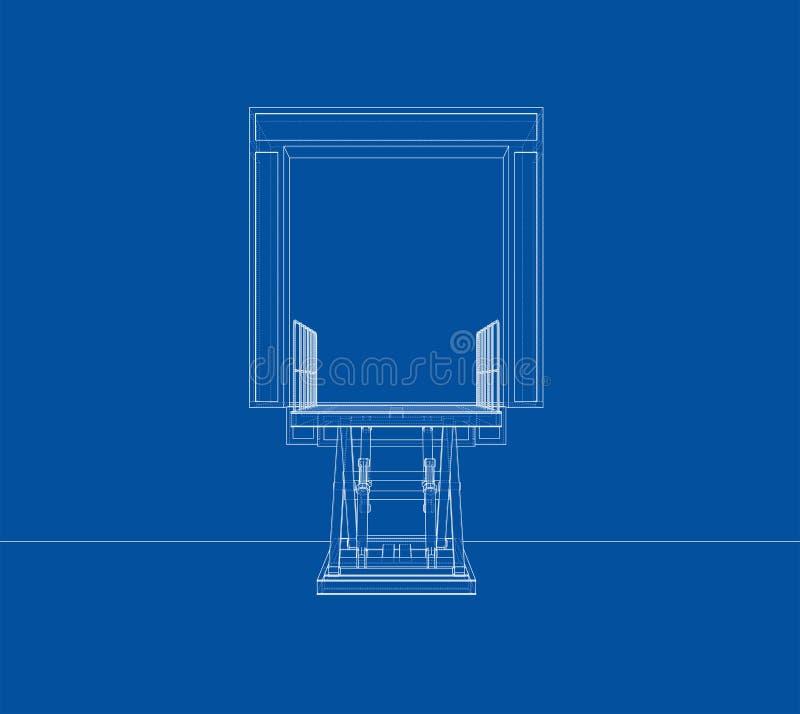 Dok leveler concept Vector royalty-vrije illustratie