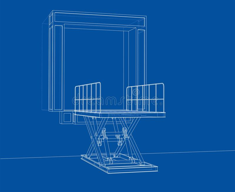 Dok leveler concept Vector vector illustratie