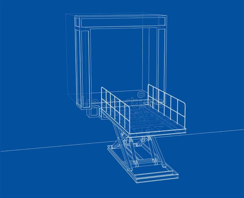 Dok leveler concept Vector stock illustratie