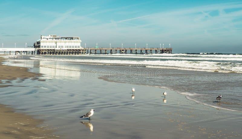 Dok przy Daytona plażą zdjęcie royalty free